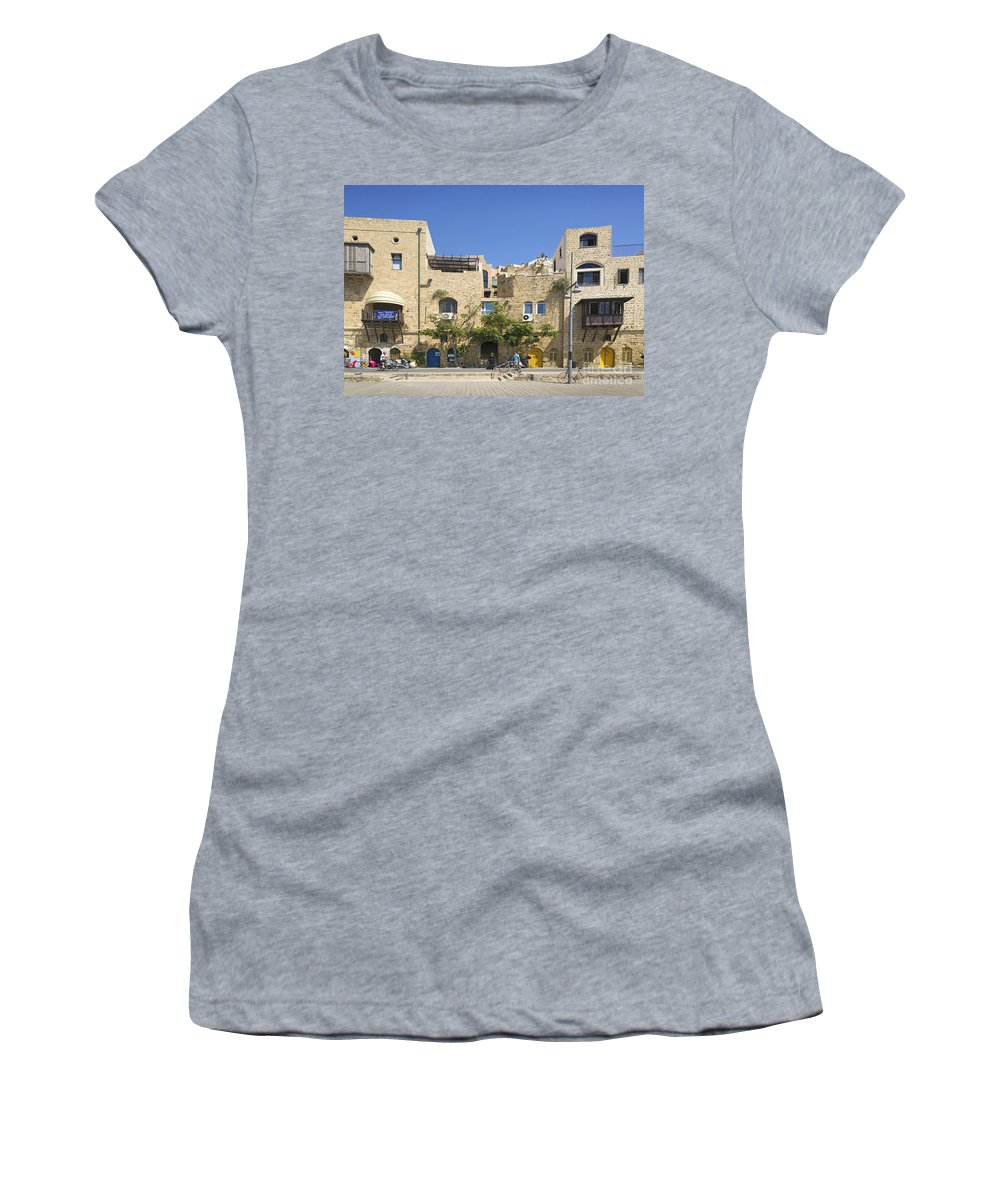 Architecture Women's T-Shirt featuring the photograph Houses In Jaffa Tel Aviv Israel by Jacek Malipan