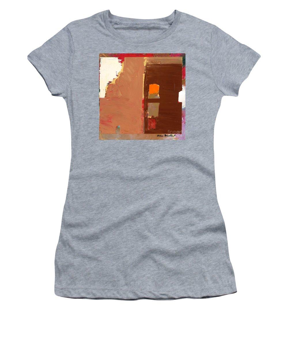 Landscape Women's T-Shirt (Athletic Fit) featuring the painting Jordan Park 512 by Allan P Friedlander
