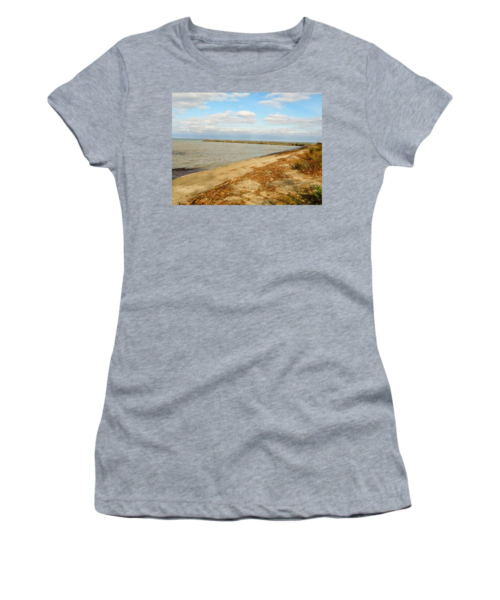 Lake Ontario Women's T-Shirt featuring the photograph Lake Ontario Shoreline by Lou Cardinale