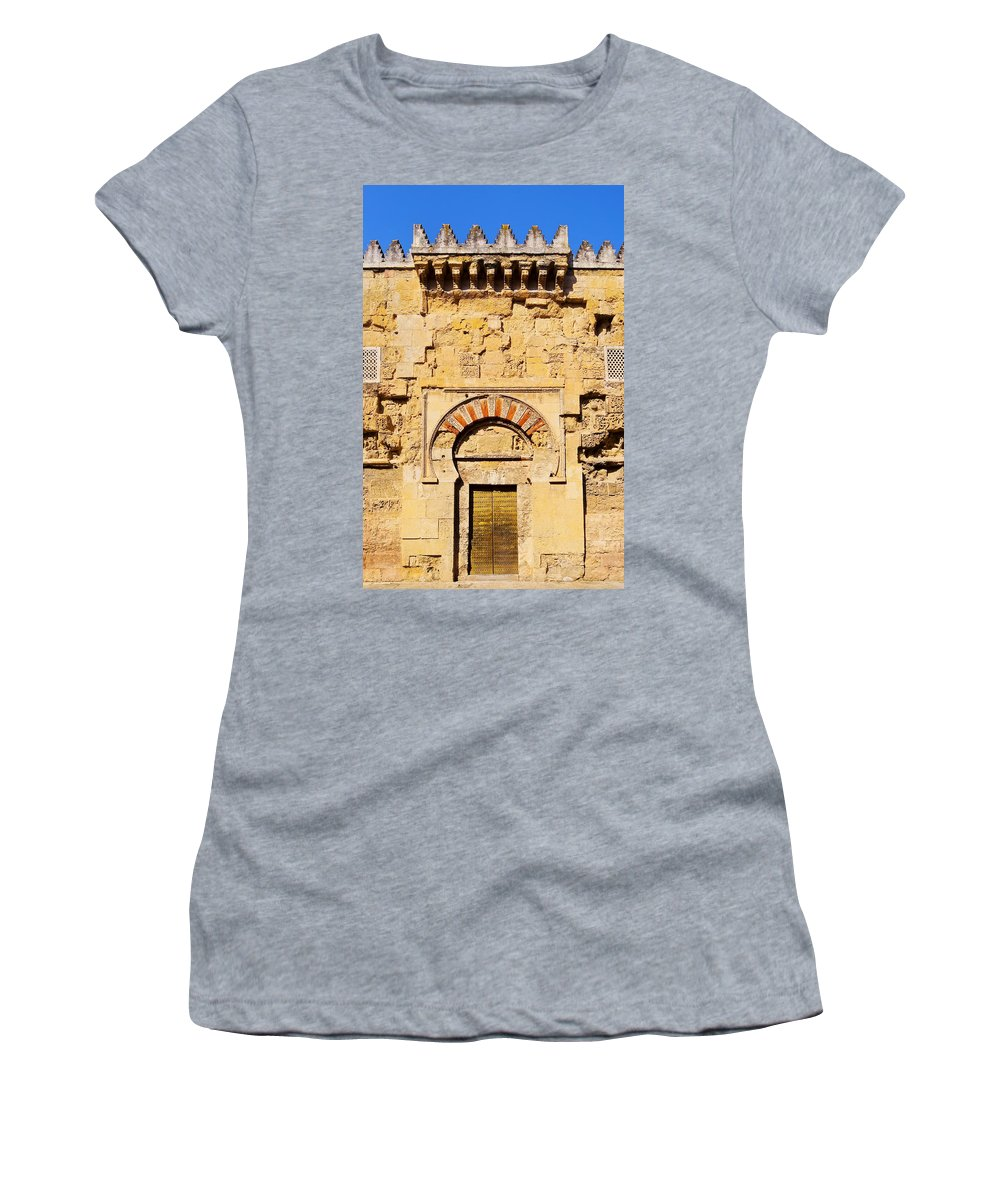 Vertical Women's T-Shirt featuring the photograph Mosque-cathedral In Cordoba by Karol Kozlowski