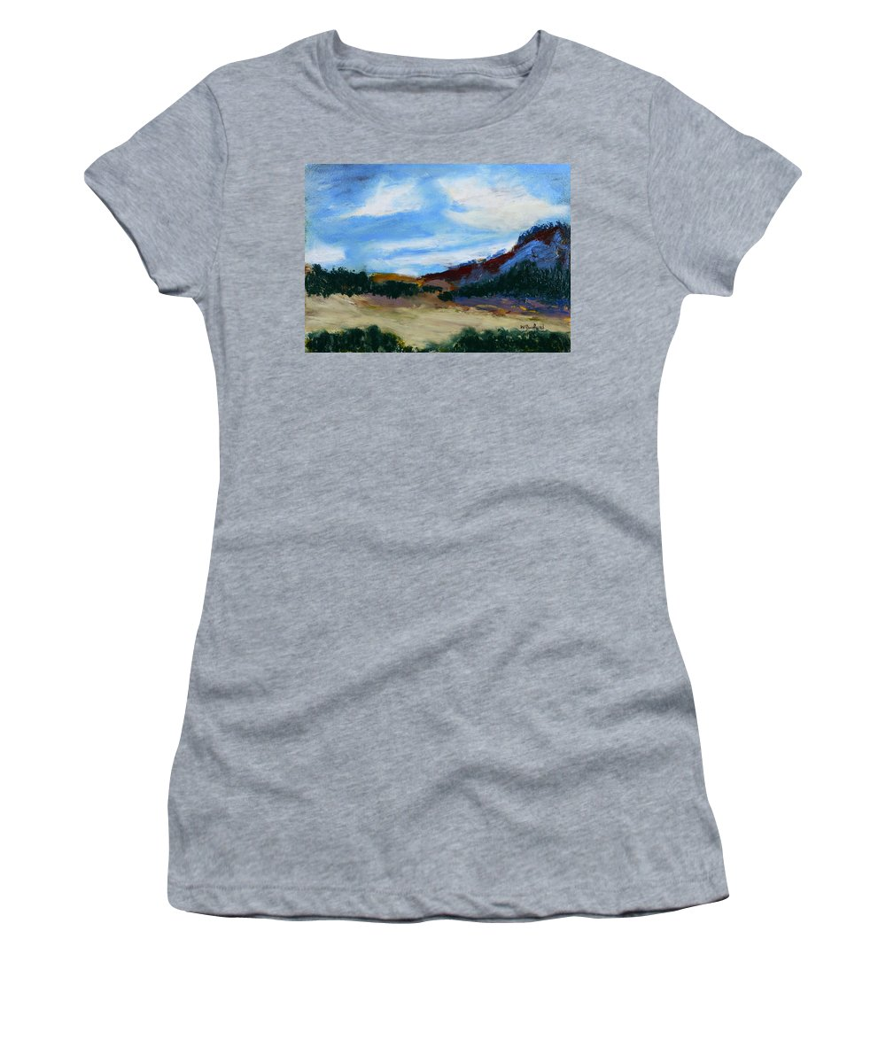 Mt. Si Women's T-Shirt featuring the painting Mt. Si by Wade Binford