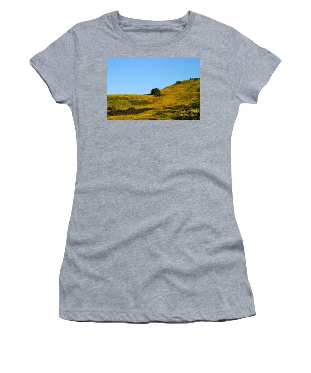 Summer Women's T-Shirt featuring the photograph Mustard Grass by Henrik Lehnerer