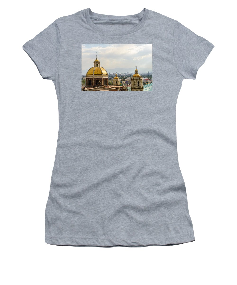 Mexico Women's T-Shirt (Athletic Fit) featuring the photograph Old Basilica Of Guadalupe by Jess Kraft