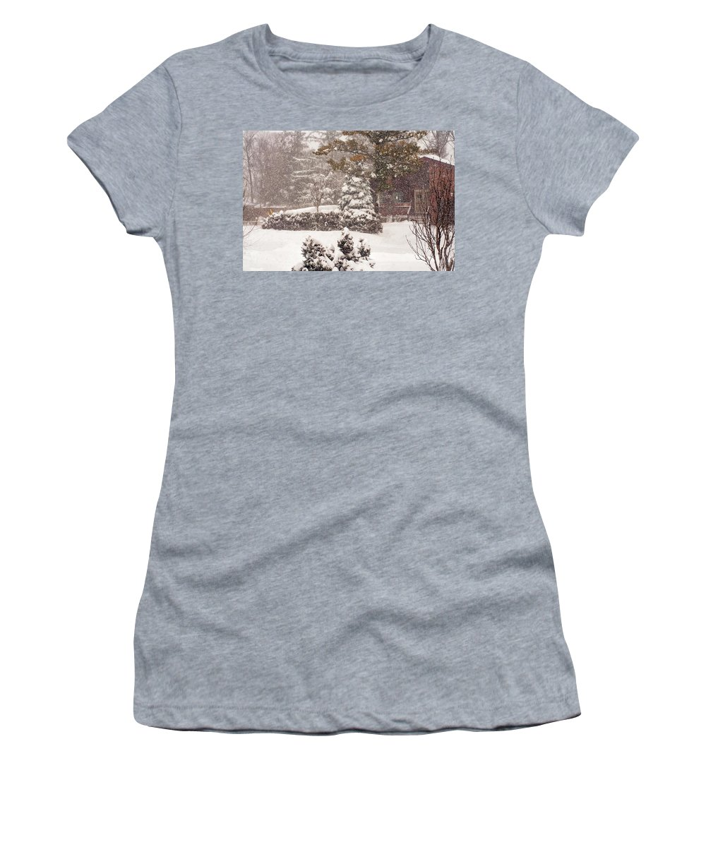 Landscape Women's T-Shirt (Athletic Fit) featuring the photograph On A Winter Day by Steve Harrington