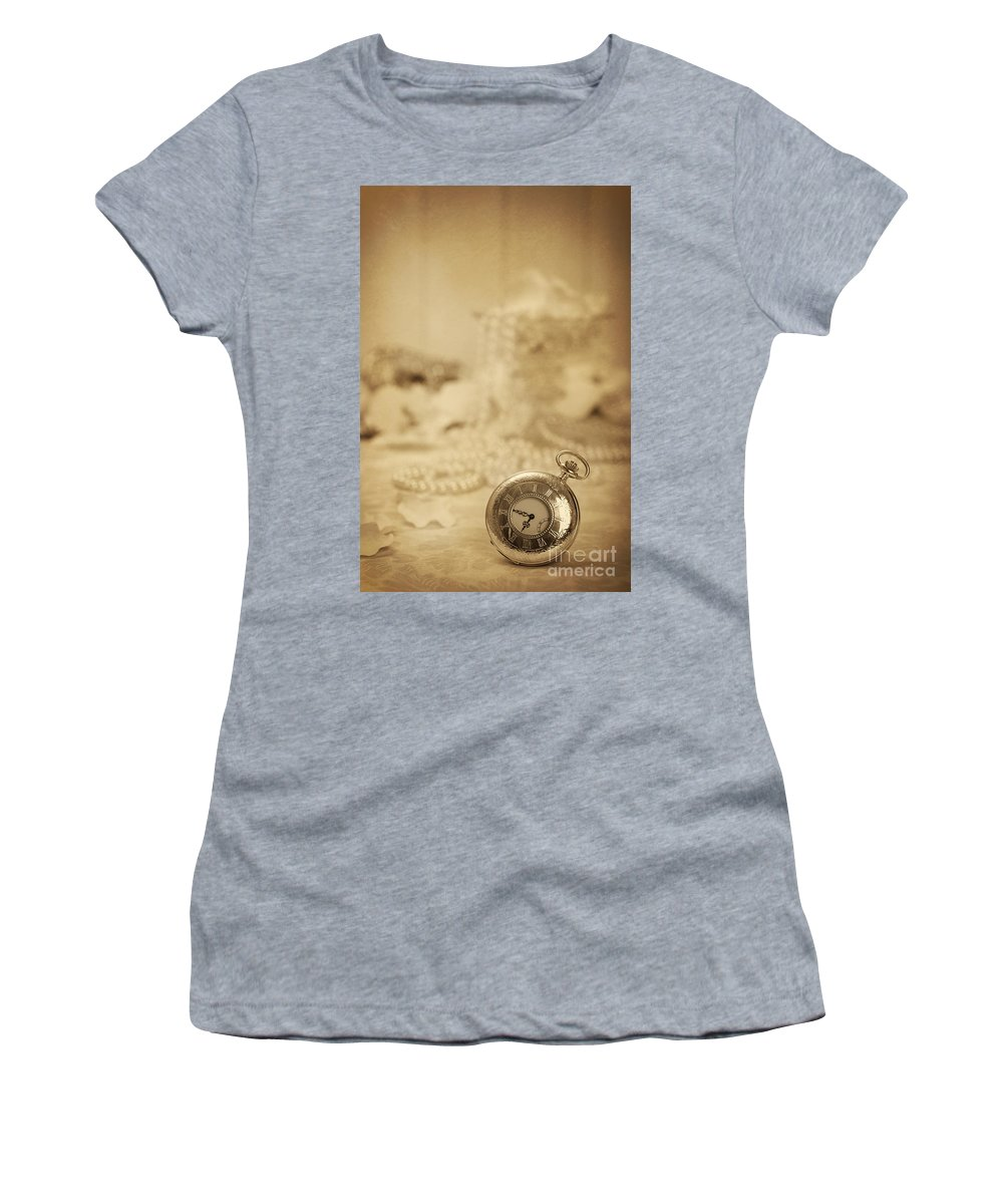 Old Women's T-Shirt featuring the photograph Pocket Watch by Amanda Elwell