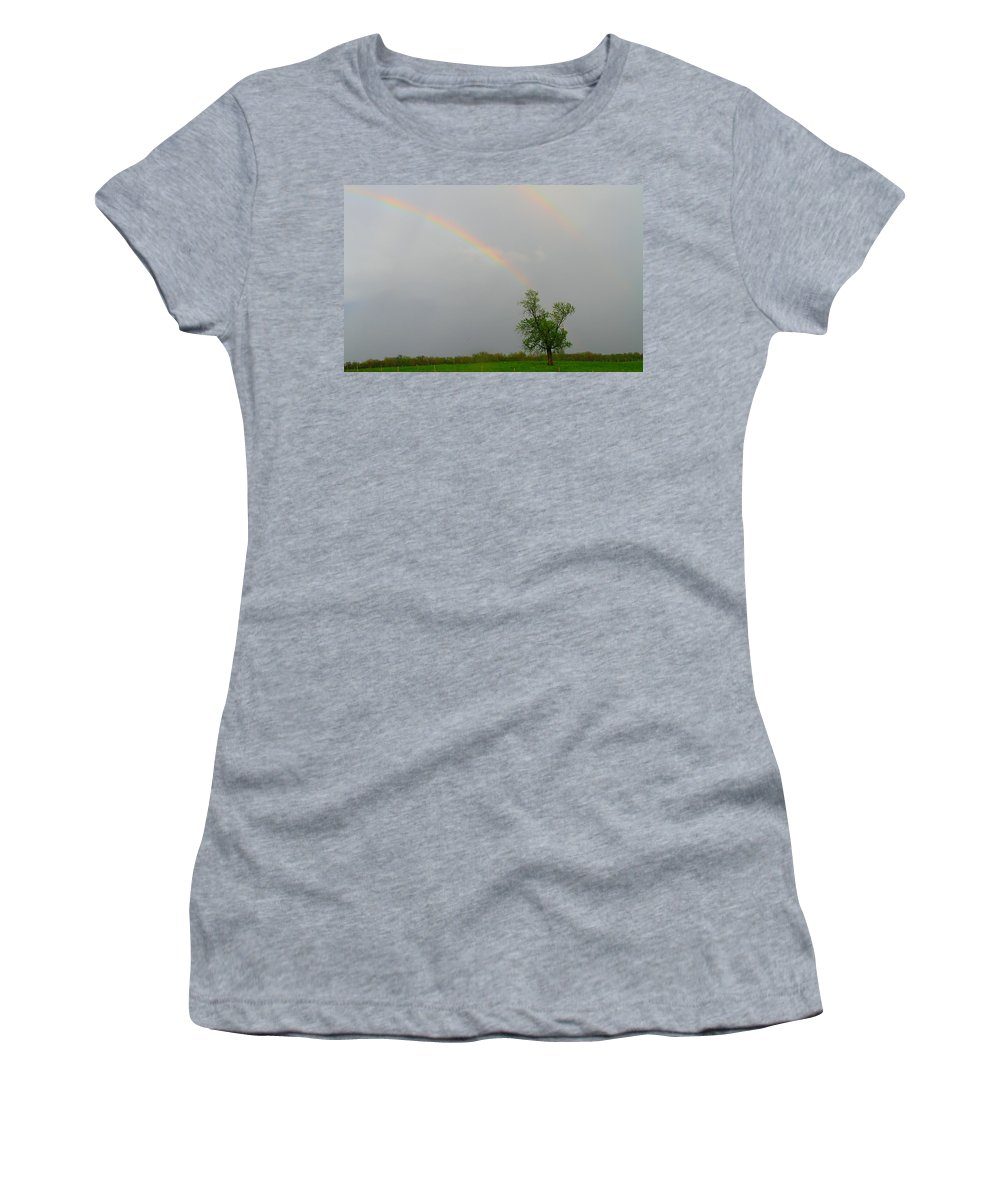 Pot Of Gold Women's T-Shirt featuring the photograph Pot Of Gold by Dan Sproul