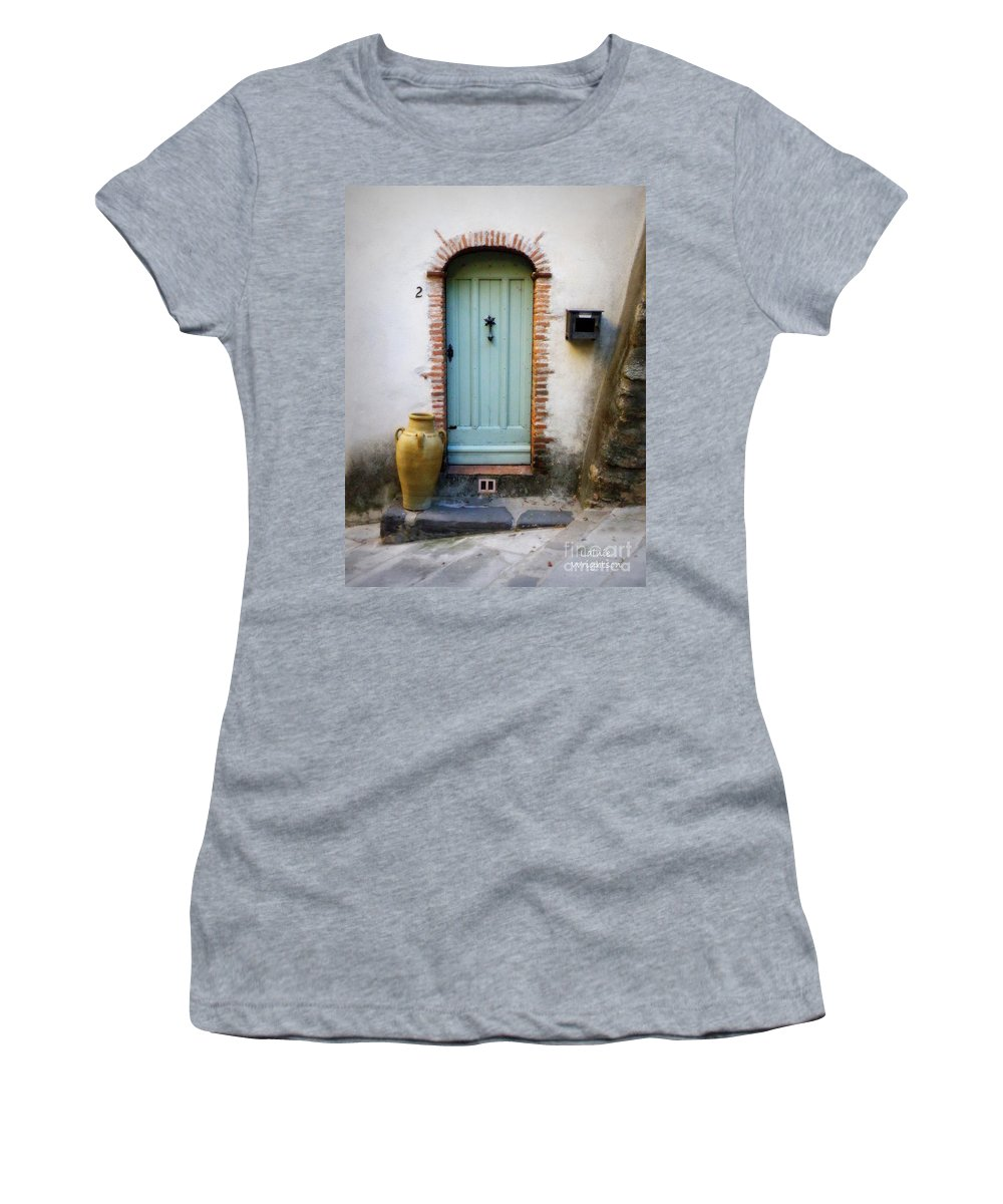 Door Women's T-Shirt featuring the photograph Provence Door Number 2 by Lainie Wrightson