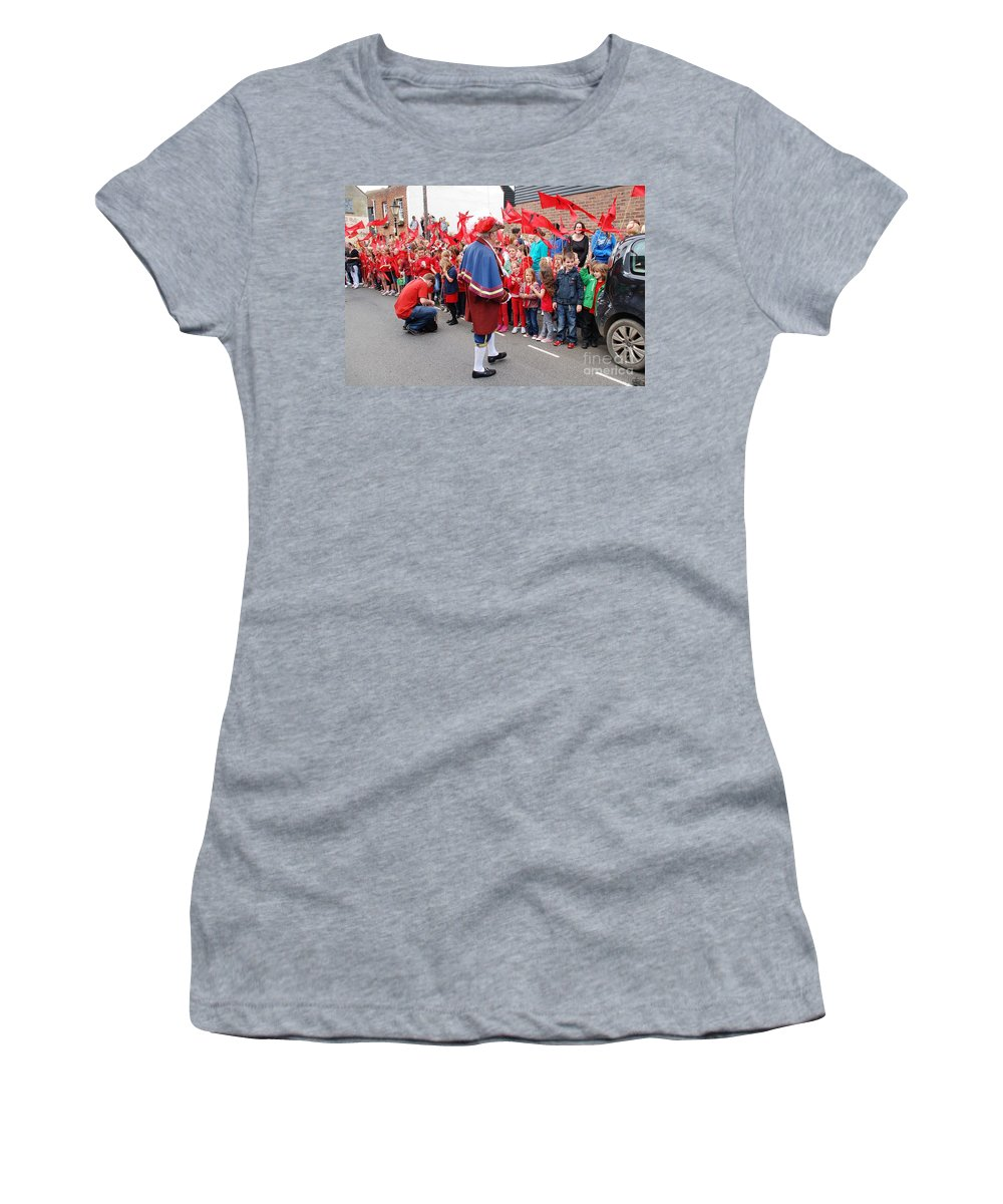 Olympic Women's T-Shirt featuring the photograph Rye Town Crier by David Fowler