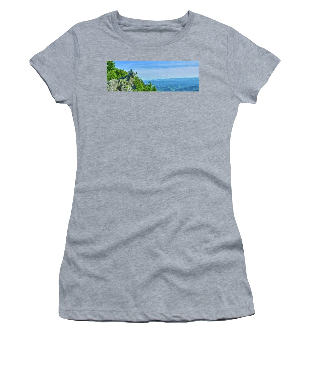 Photography Women's T-Shirt featuring the photograph Scenic View Of Mountain Range by Panoramic Images