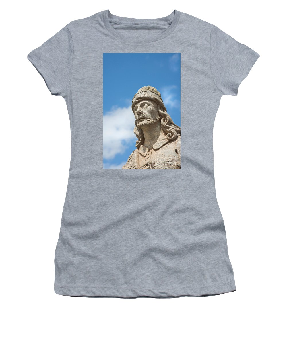 World Destination Women's T-Shirt (Athletic Fit) featuring the photograph Statues Of Prophets by David Davis