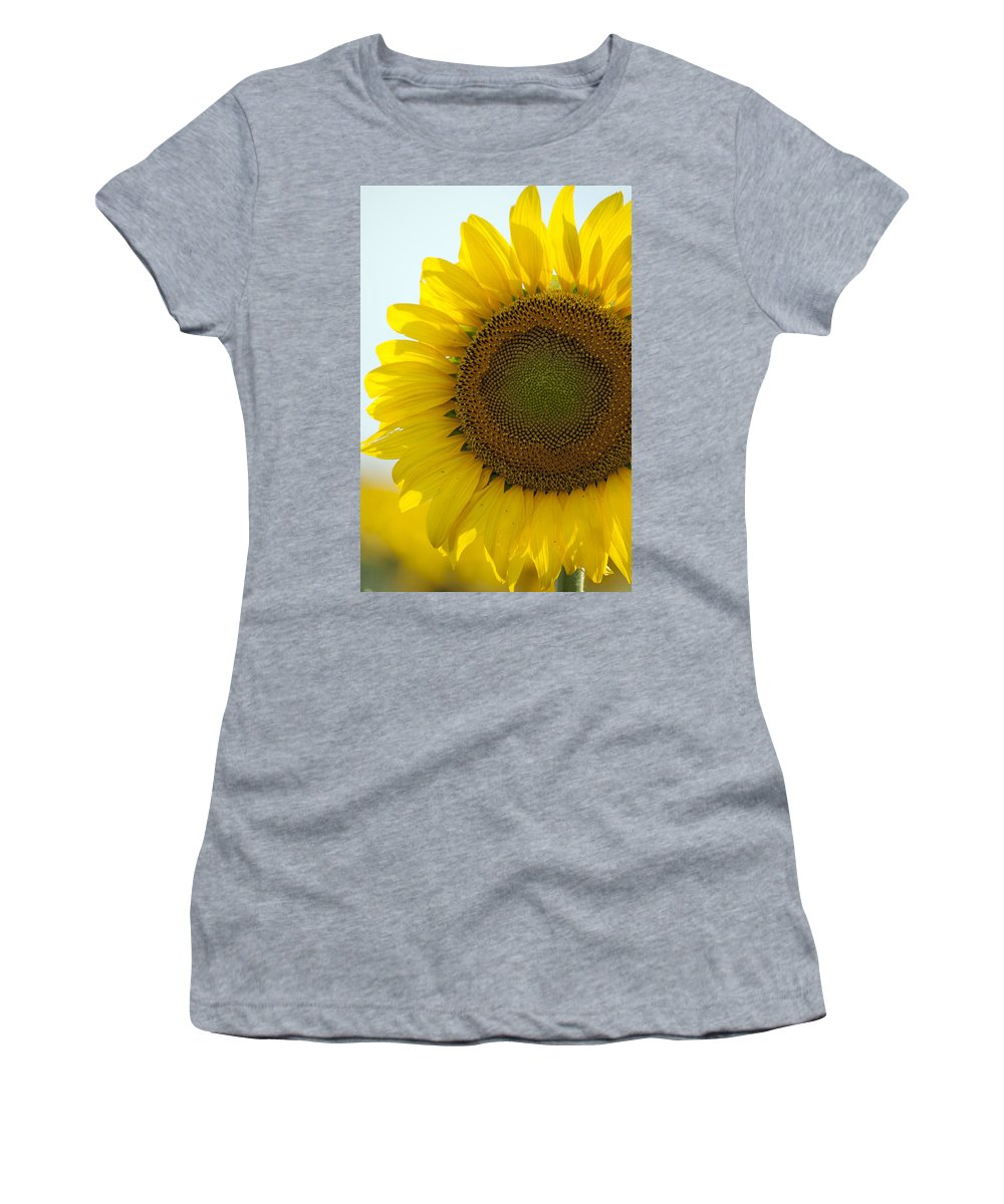 Sunflower Women's T-Shirt (Athletic Fit) featuring the photograph Sun Kissed by Debby Richards