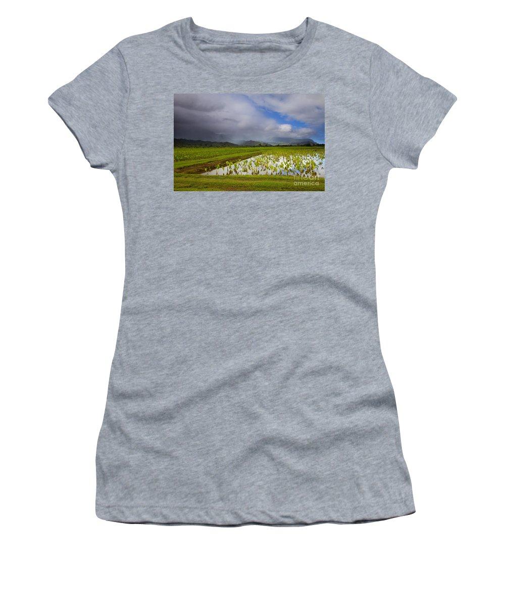 Taro Women's T-Shirt featuring the photograph Taro Storm by Mike Dawson