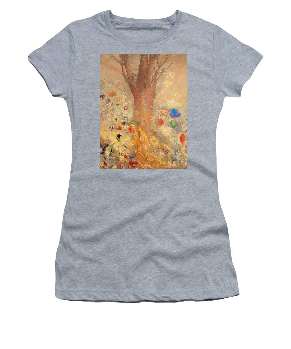 Painting Women's T-Shirt featuring the painting The Buddha by Mountain Dreams
