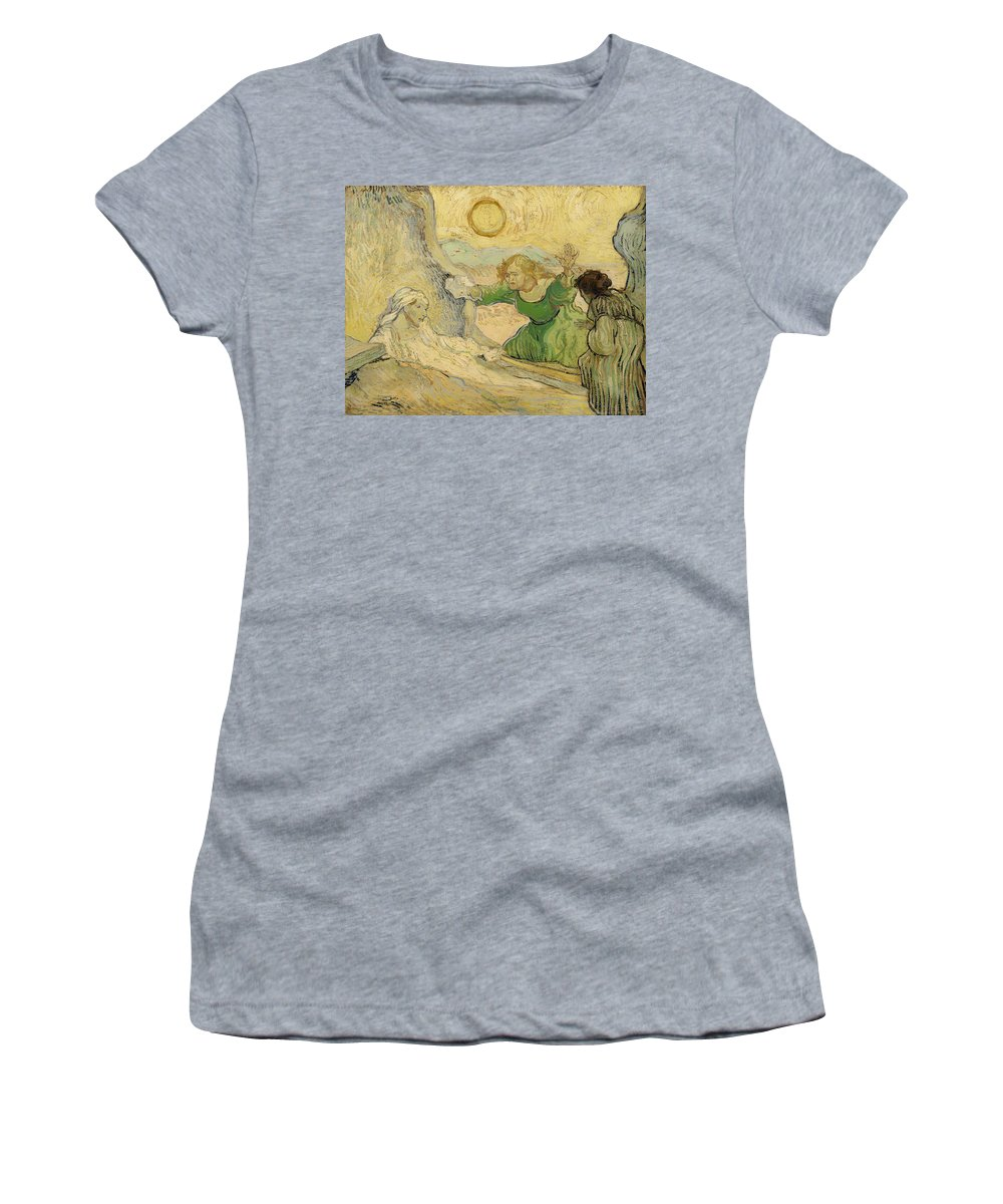 Painting Women's T-Shirt featuring the painting The Raising Of Lazarus by Mountain Dreams