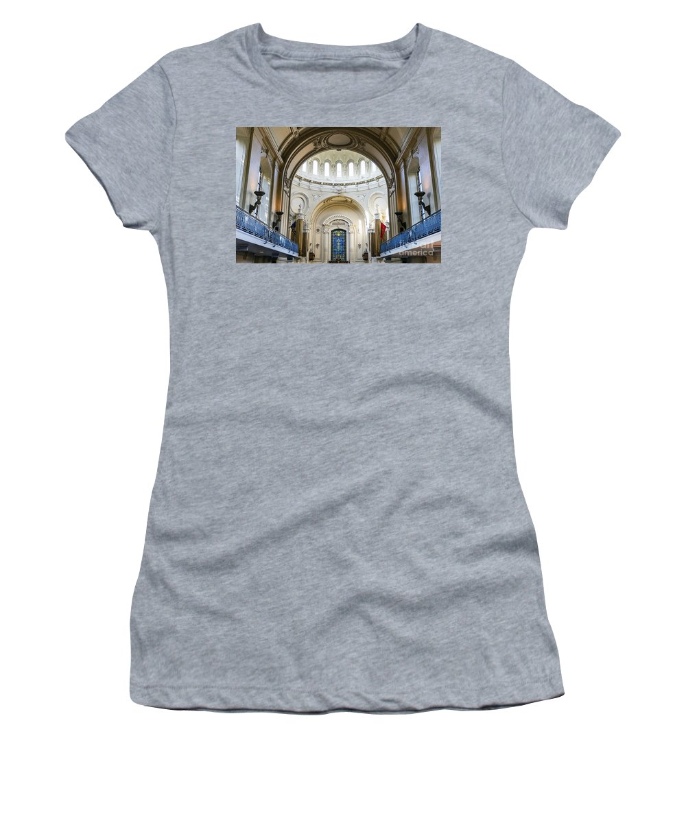 America Women's T-Shirt featuring the photograph The United States Naval Academy Chapel by John Greim