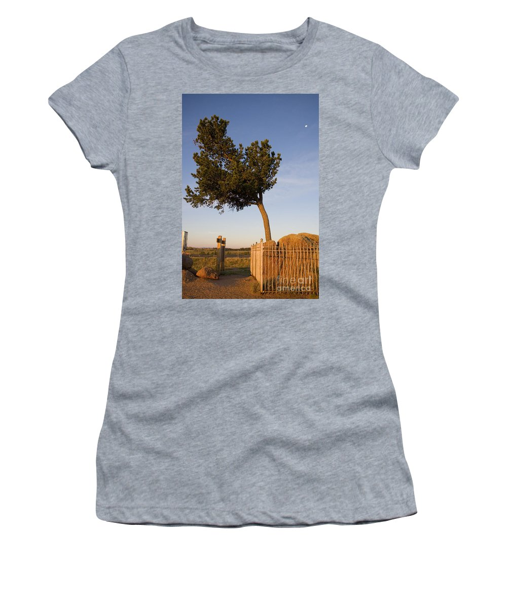 Wyoming Women's T-Shirt (Athletic Fit) featuring the photograph Tree Rock Wyoming by Jason O Watson