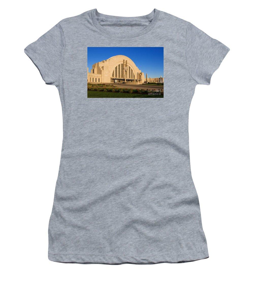 History Women's T-Shirt (Athletic Fit) featuring the photograph Union Terminal, Cincinnati by David Davis