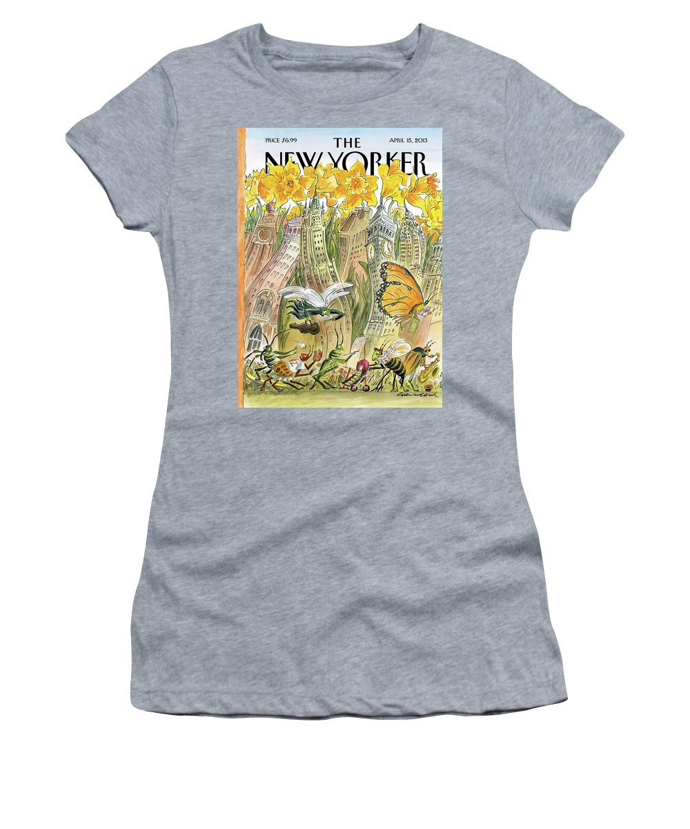 Blossom Women's T-Shirt featuring the painting Blossom Time by Edward Sorel