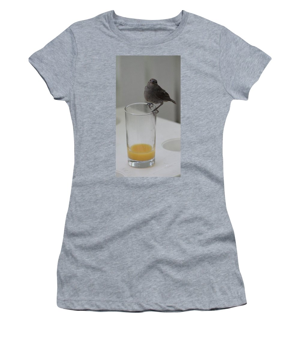 Orange Juice Women's T-Shirt featuring the photograph You Caught Me by Catie Canetti
