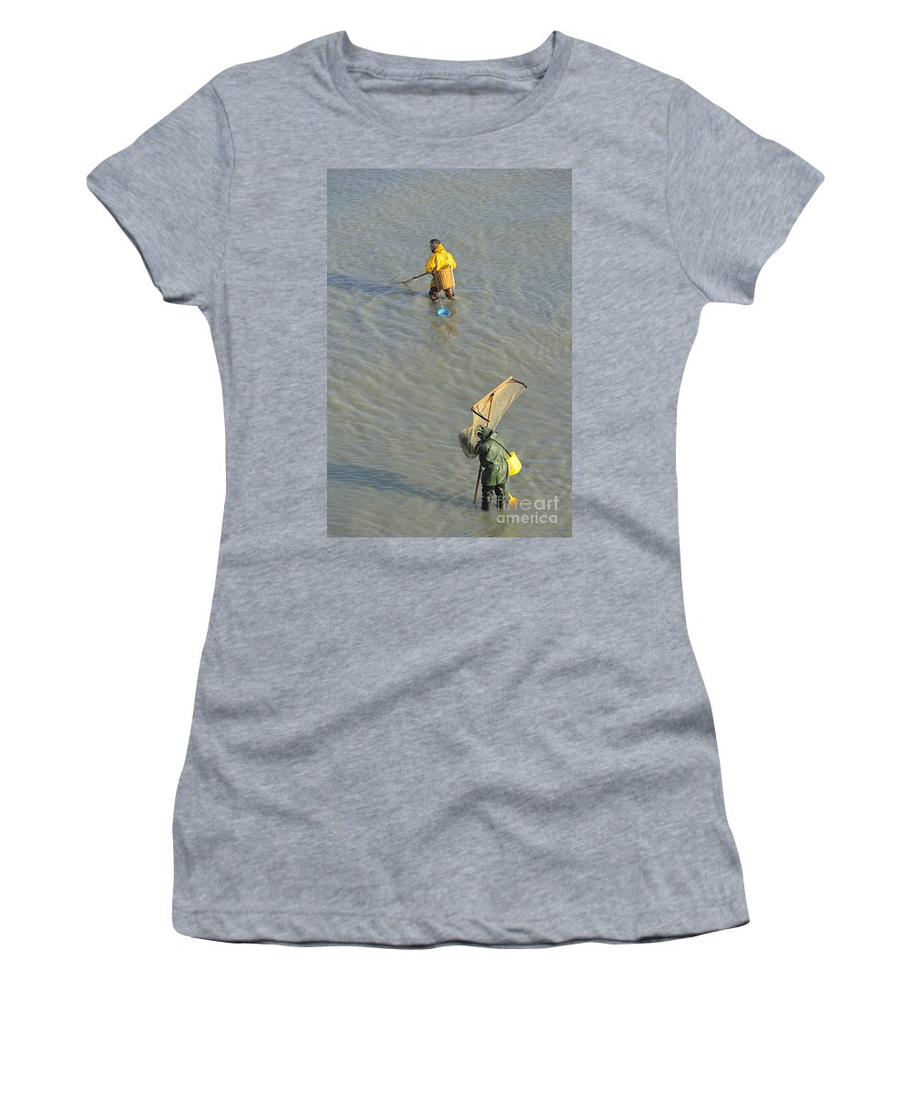 Shrimper Women's T-Shirt featuring the photograph 110307p255 by Arterra Picture Library
