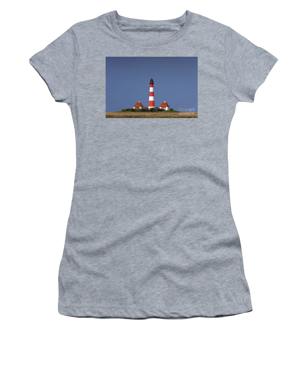 Lighthouse Women's T-Shirt featuring the photograph 121213p119 by Arterra Picture Library