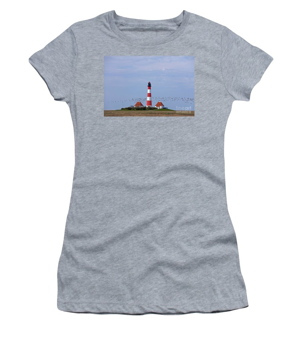 Lighthouse Women's T-Shirt featuring the photograph 121213p122 by Arterra Picture Library