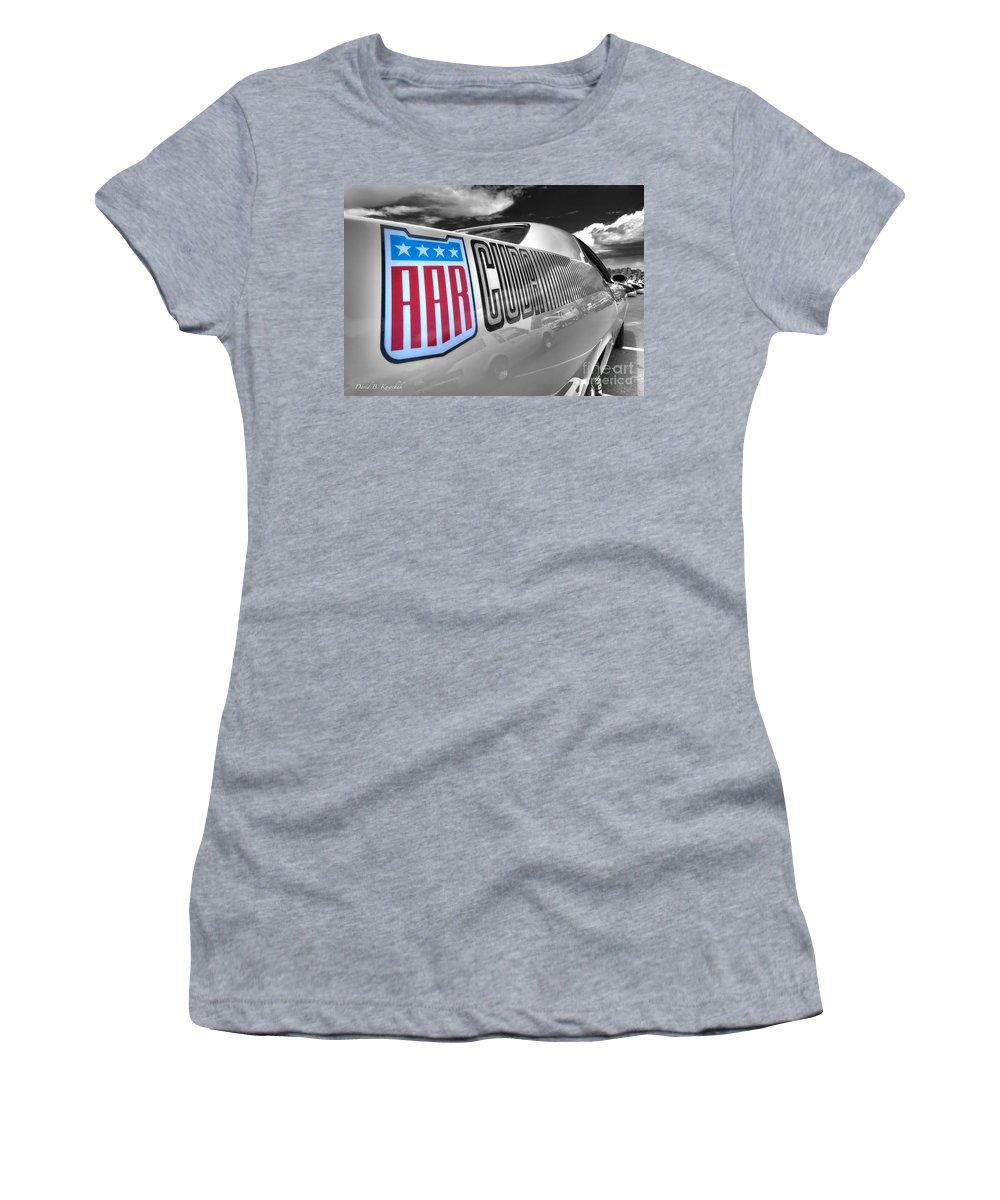 1970 Aar Barracuda Women's T-Shirt featuring the photograph 1970 Aar Brracuda by Arttography LLC