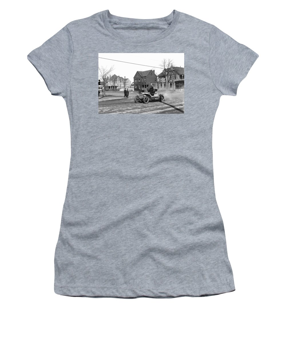1905 Women's T-Shirt (Athletic Fit) featuring the photograph Automobile, C1905 by Granger