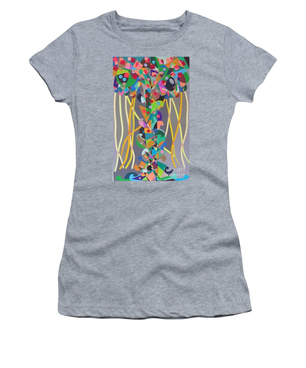 Landscape Women's T-Shirt (Athletic Fit) featuring the painting Carnival by Allan P Friedlander