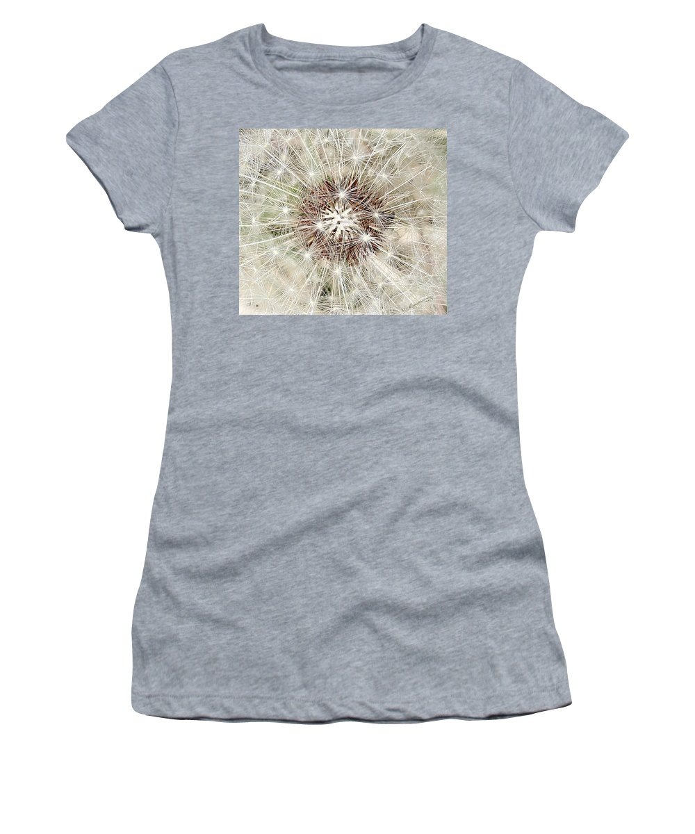 Dandelion Women's T-Shirt (Athletic Fit) featuring the photograph Dandelion by Kume Bryant