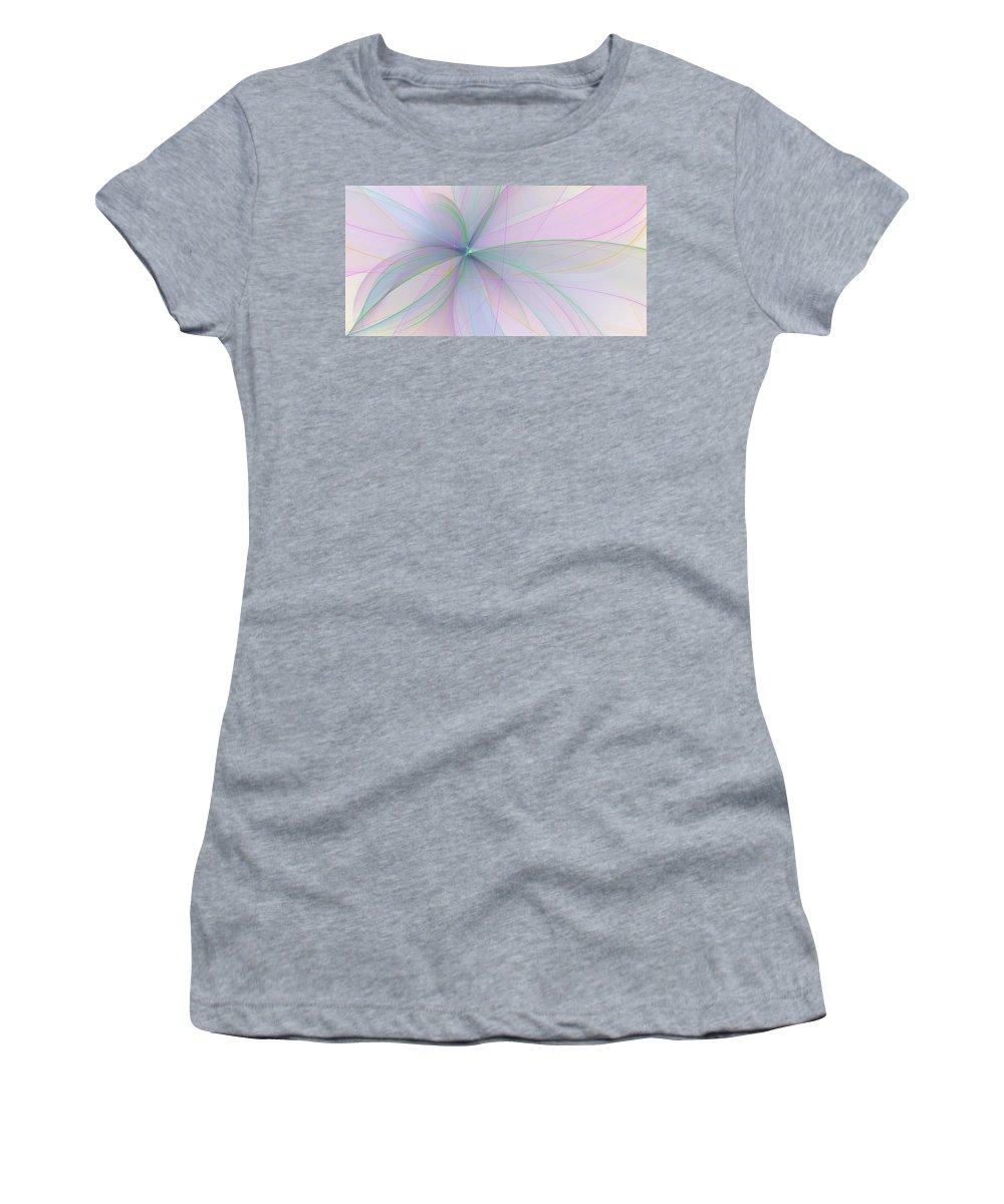 Digital Art Women's T-Shirt featuring the digital art Filigree by Gabiw Art