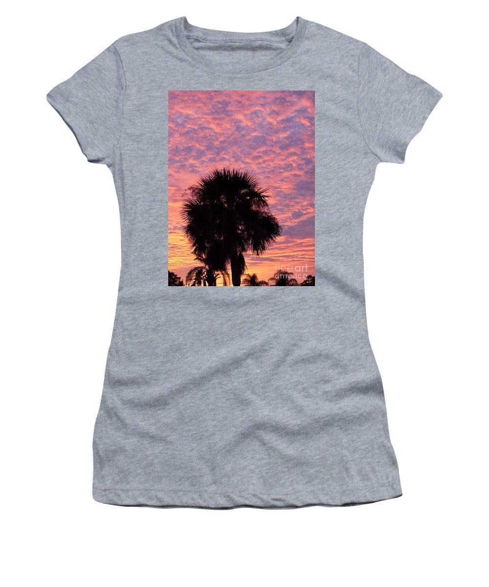 Tropic Women's T-Shirt featuring the photograph Florida Sunset by Allan Hughes