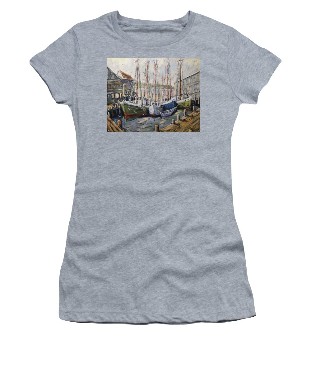 Art Women's T-Shirt (Athletic Fit) featuring the painting Full House By Prankearts Fine Art by Richard T Pranke