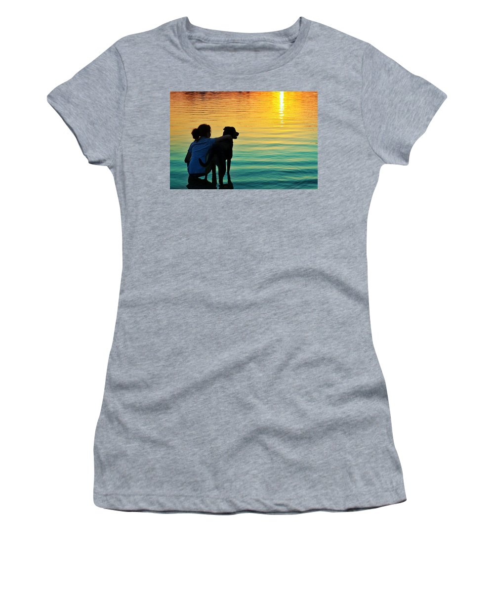 Laura Fasulo Women's T-Shirt (Athletic Fit) featuring the photograph Island by Laura Fasulo