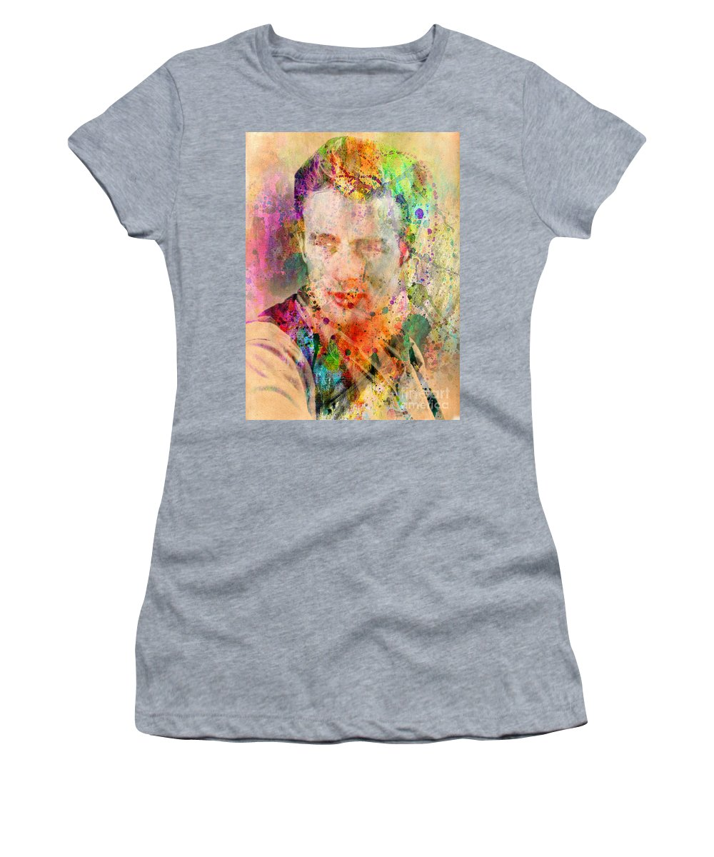 James Dean Women's T-Shirt featuring the digital art James Dean by Mark Ashkenazi