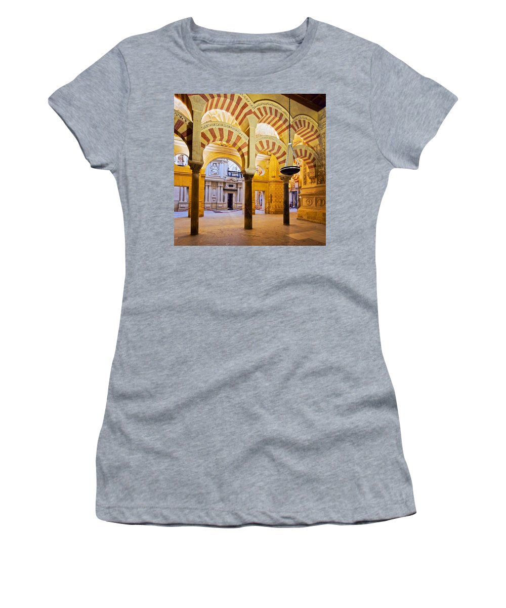 Ancient Women's T-Shirt featuring the photograph Mosque-cathedral In Cordoba by Karol Kozlowski