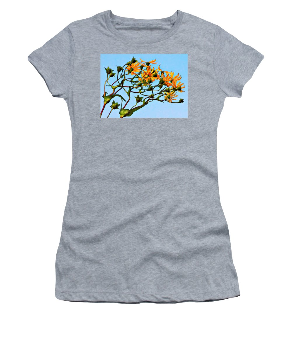 Flowers Women's T-Shirt (Athletic Fit) featuring the photograph Party Girls by Steve Harrington