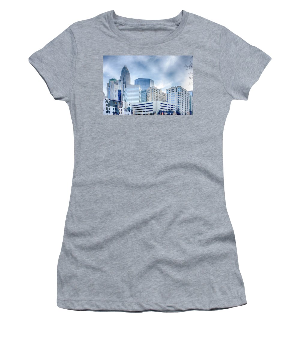Rare Women's T-Shirt featuring the photograph Rare Winter Scenery Around Charlotte North Carolina by Alex Grichenko