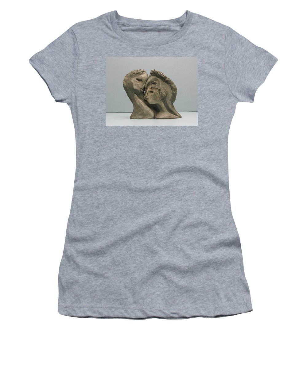 Originals Women's T-Shirt featuring the sculpture 2 Sided Family And Empty Nest by Nili Tochner