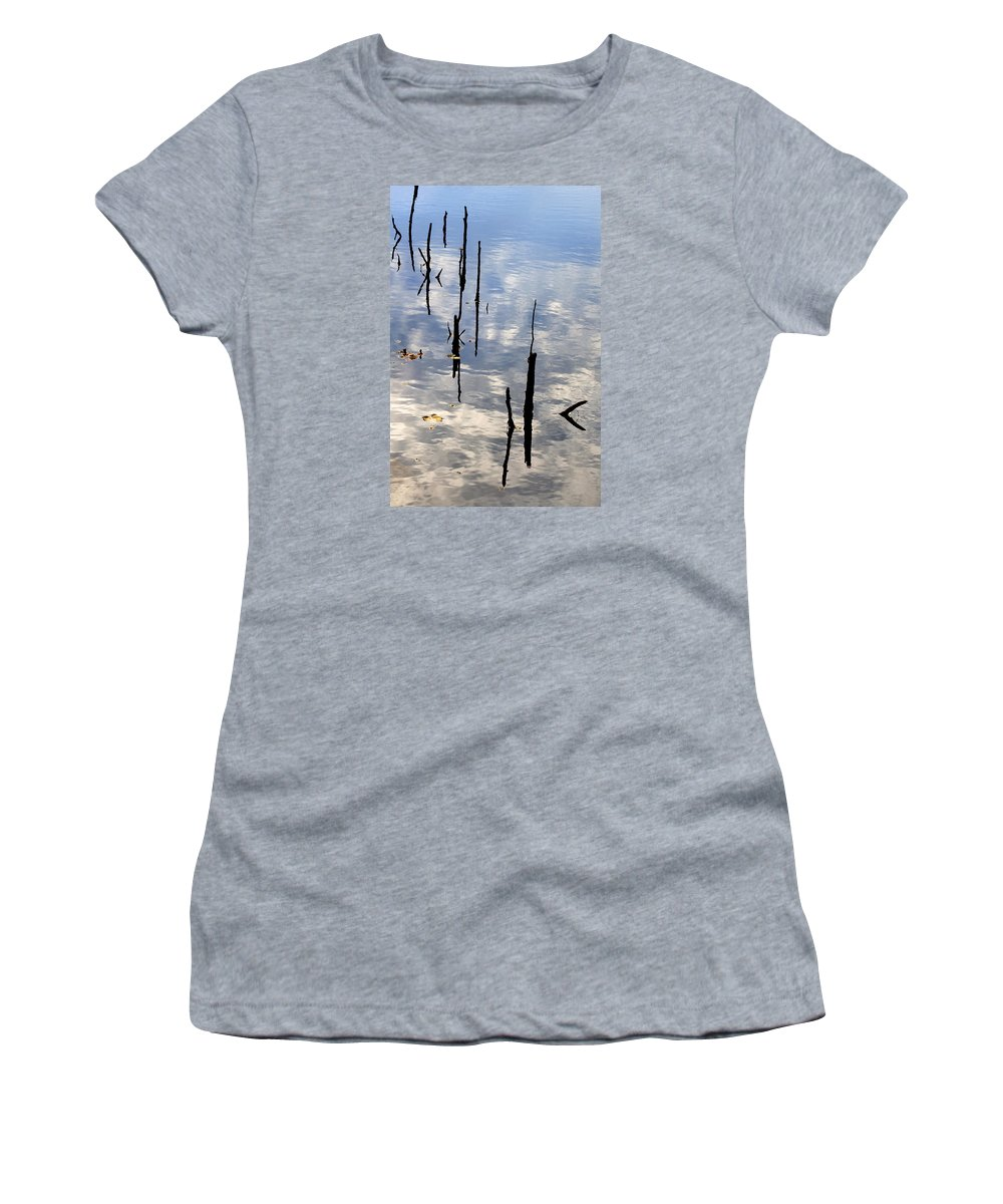 Nature Abstract Women's T-Shirt featuring the photograph Skinny Dipping by KM Corcoran