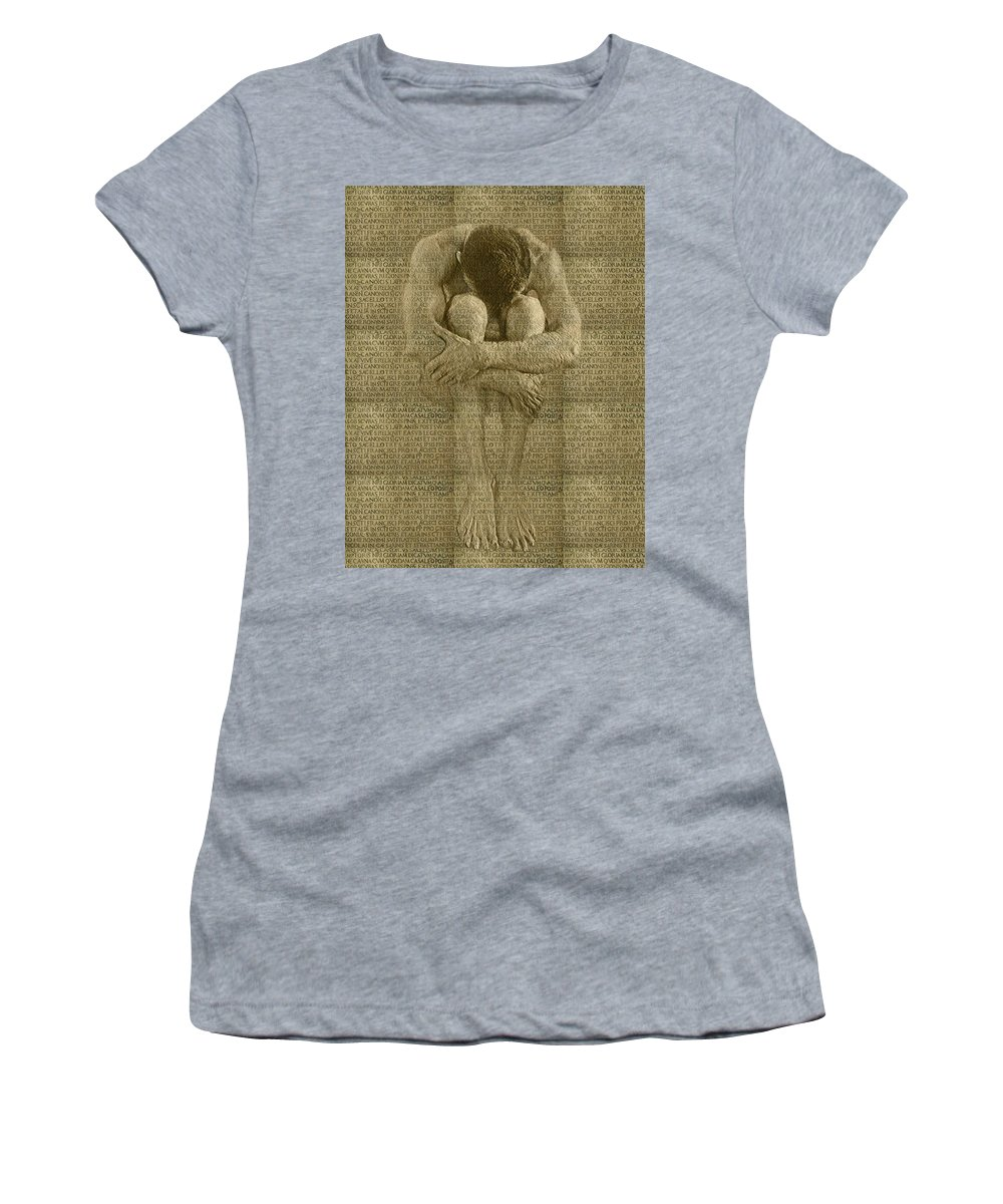 Nudes Women's T-Shirt (Athletic Fit) featuring the photograph The Artist by Kurt Van Wagner