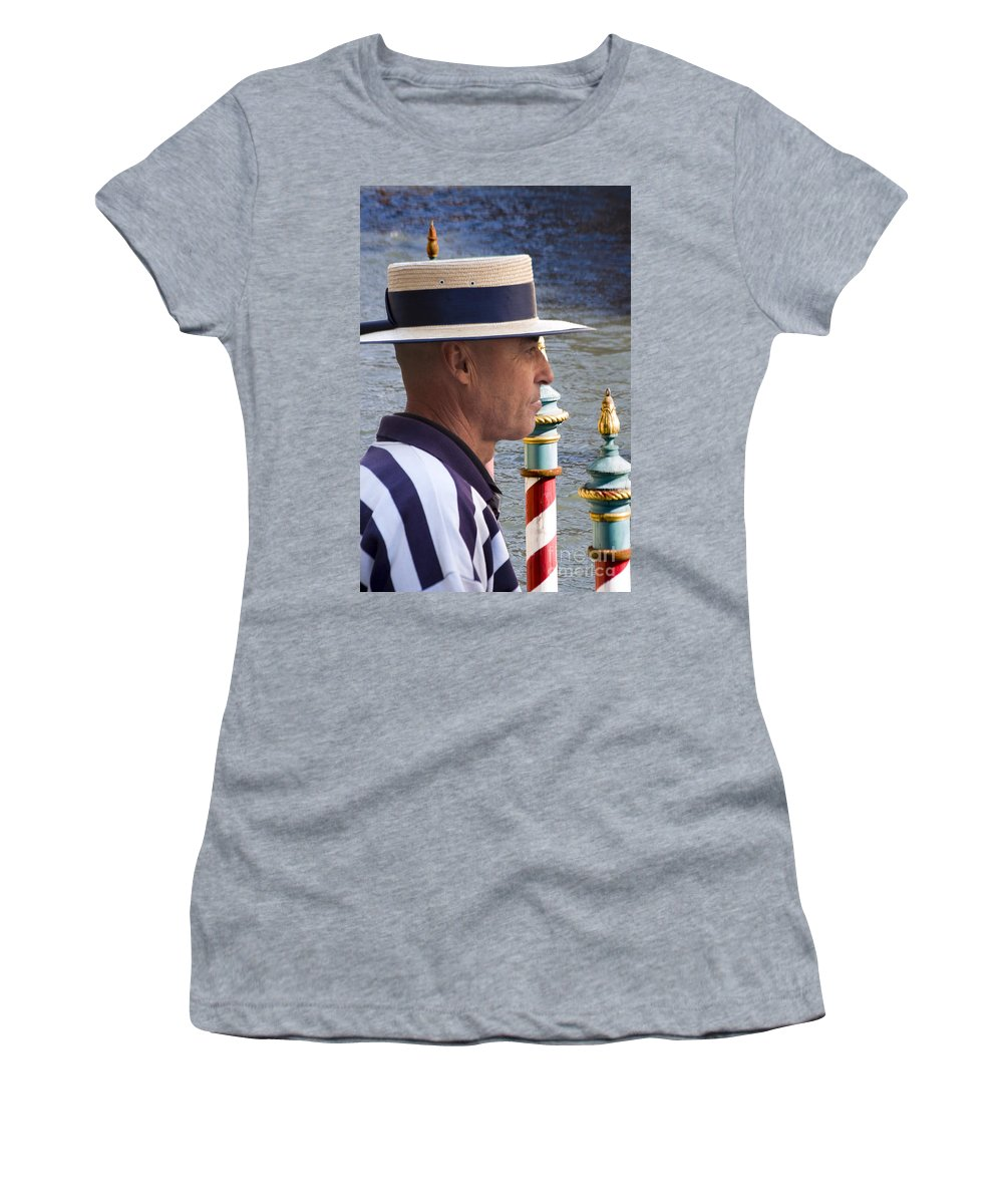 Heiko Women's T-Shirt featuring the photograph The Gondolier by Heiko Koehrer-Wagner