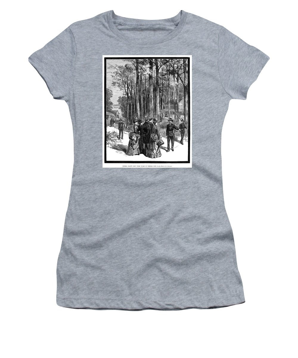 1885 Women's T-Shirt (Athletic Fit) featuring the painting Ulysses S by Granger