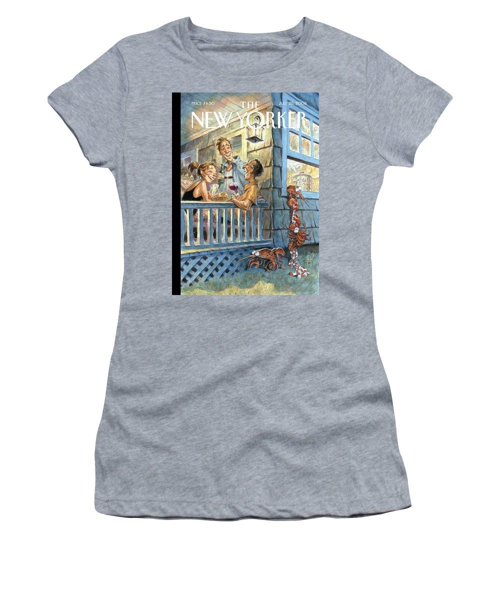 By Peter De Seve Women's T-Shirt featuring the painting Summer Getaway by Peter de Seve