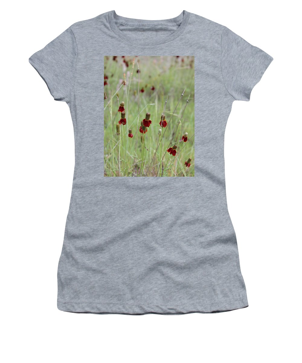 Wildflowers Women's T-Shirt (Athletic Fit) featuring the photograph Wildflowers by Kume Bryant