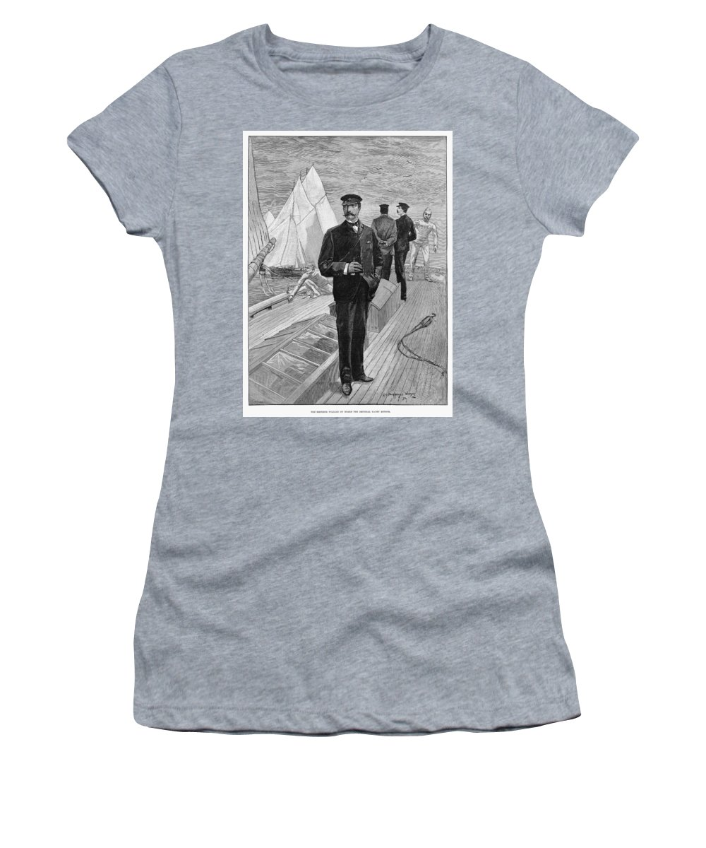 1892 Women's T-Shirt (Athletic Fit) featuring the drawing William II Of Germany (1859-1941) by Granger