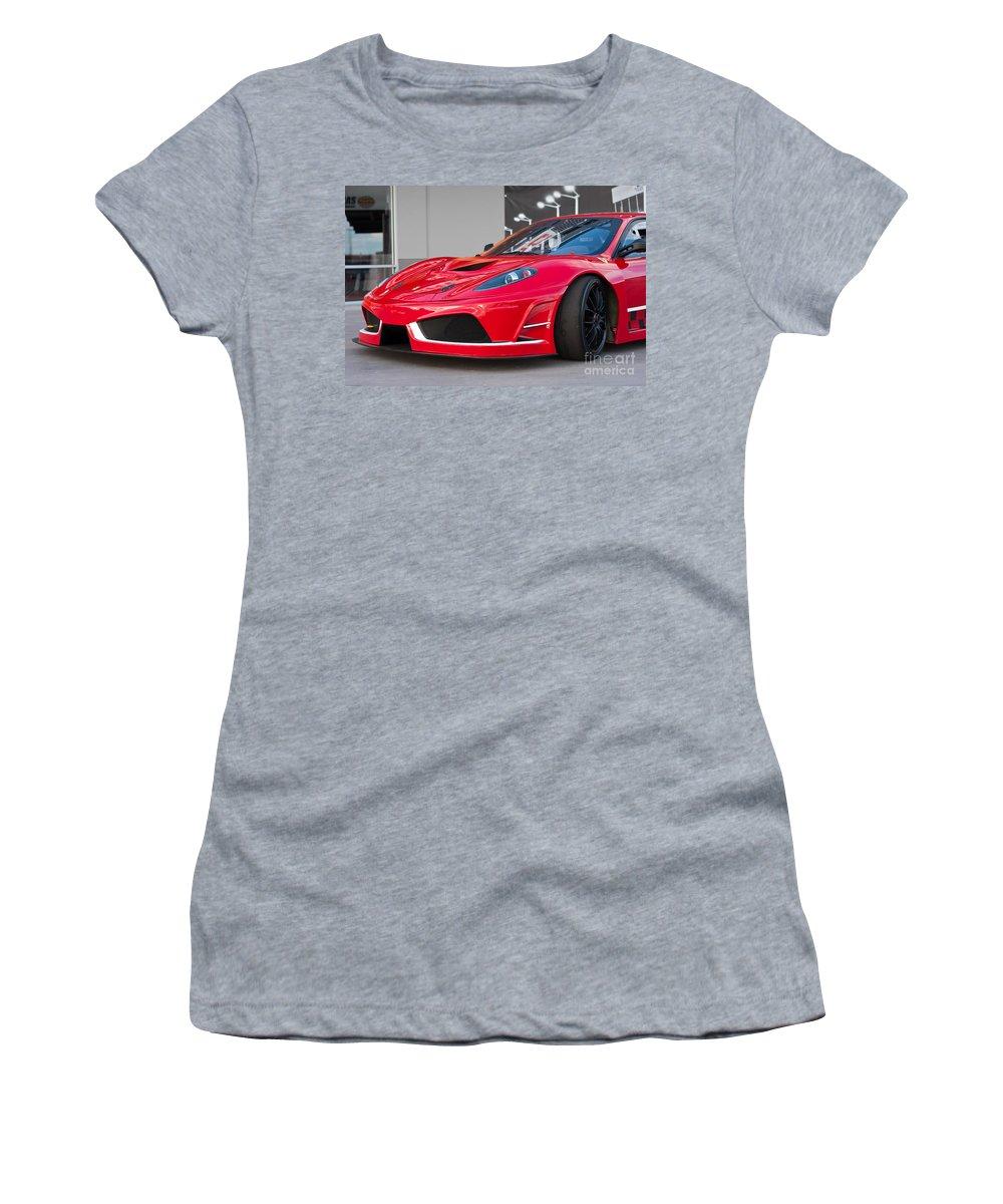 430 Women's T-Shirt featuring the photograph 2012 Ferrari F-430 by Gunter Nezhoda