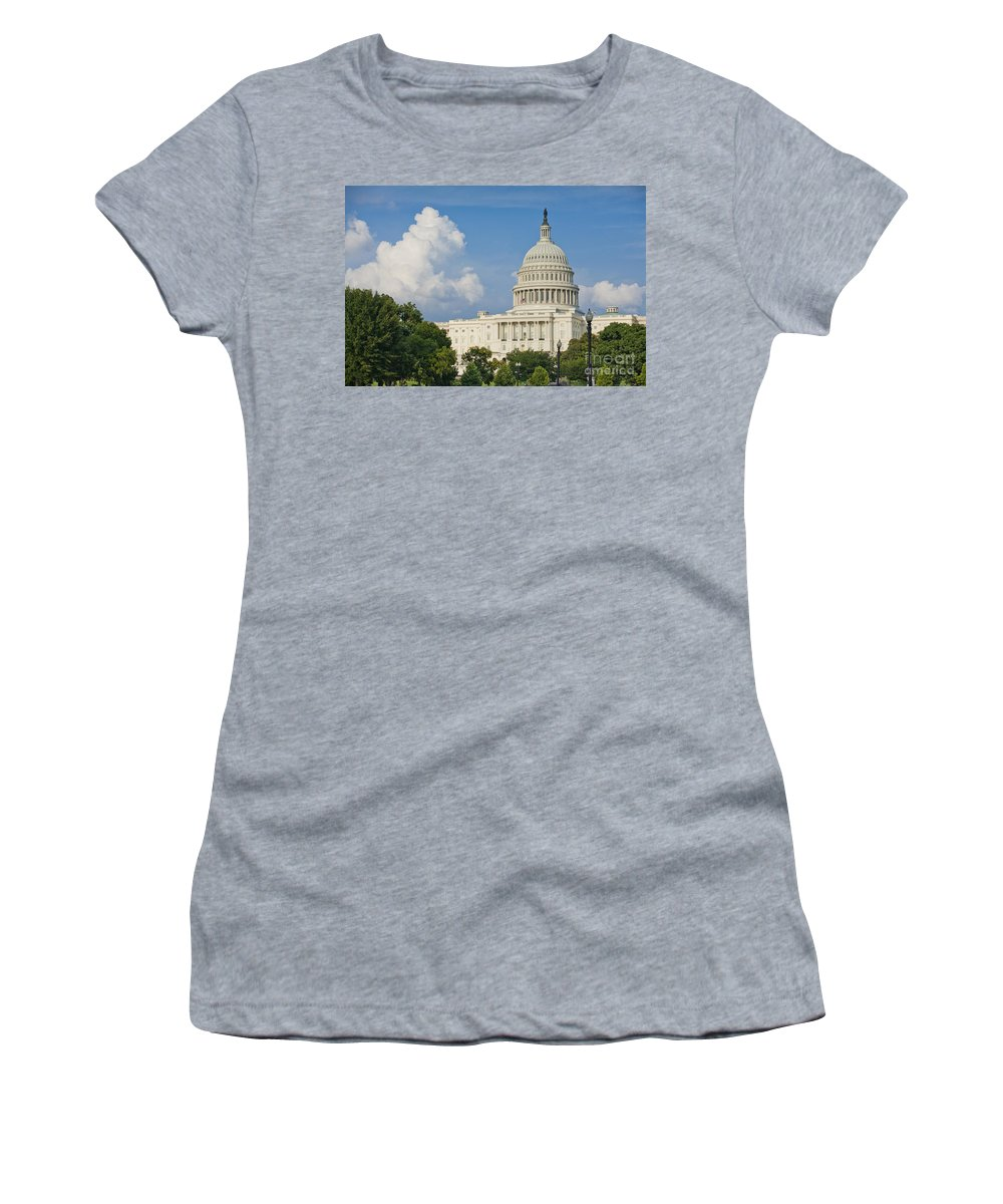 Us Women's T-Shirt (Athletic Fit) featuring the photograph Us Capitol Building by B Christopher