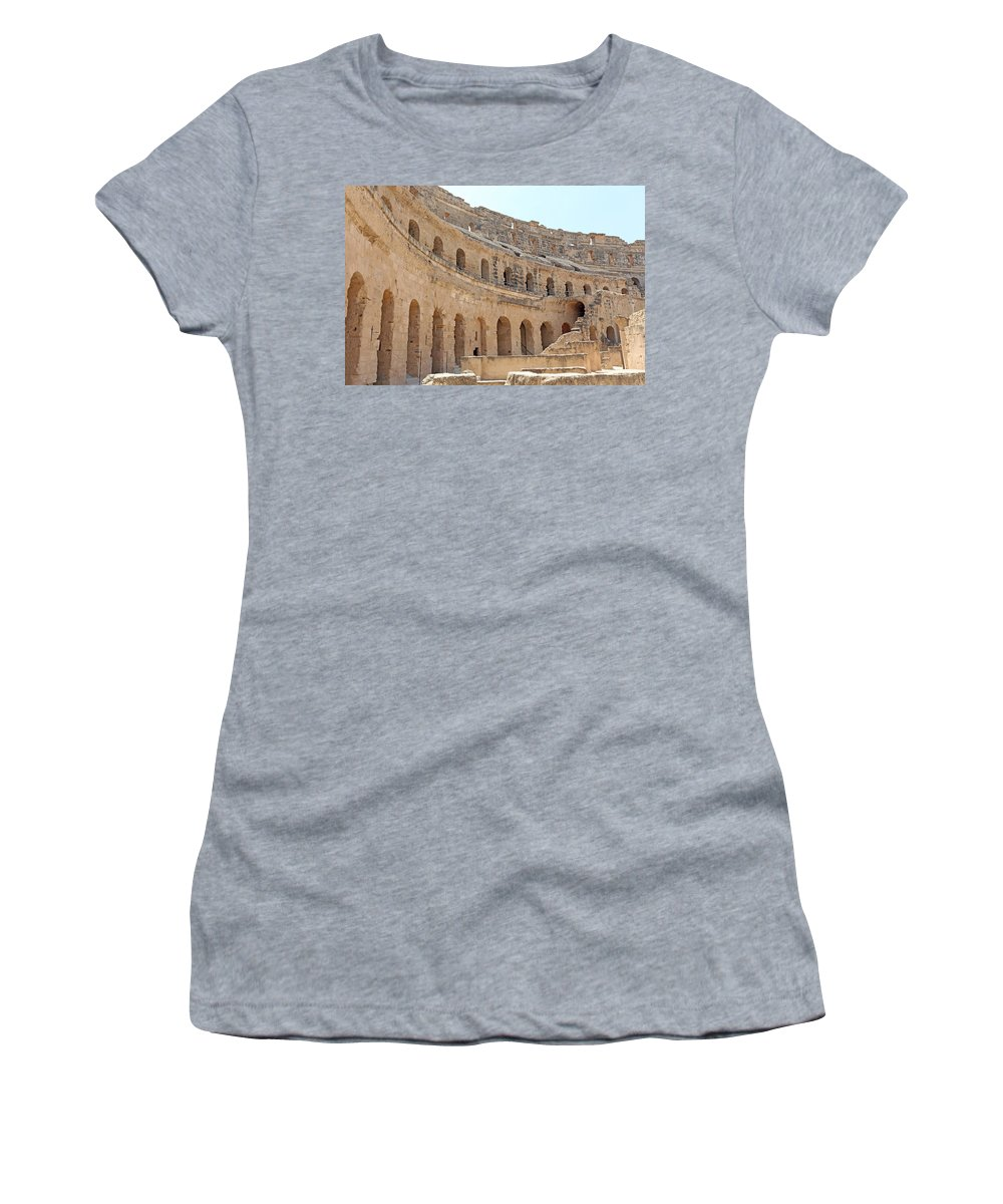 Colosseum Women's T-Shirt featuring the photograph Amphitheatre by Paul Fell