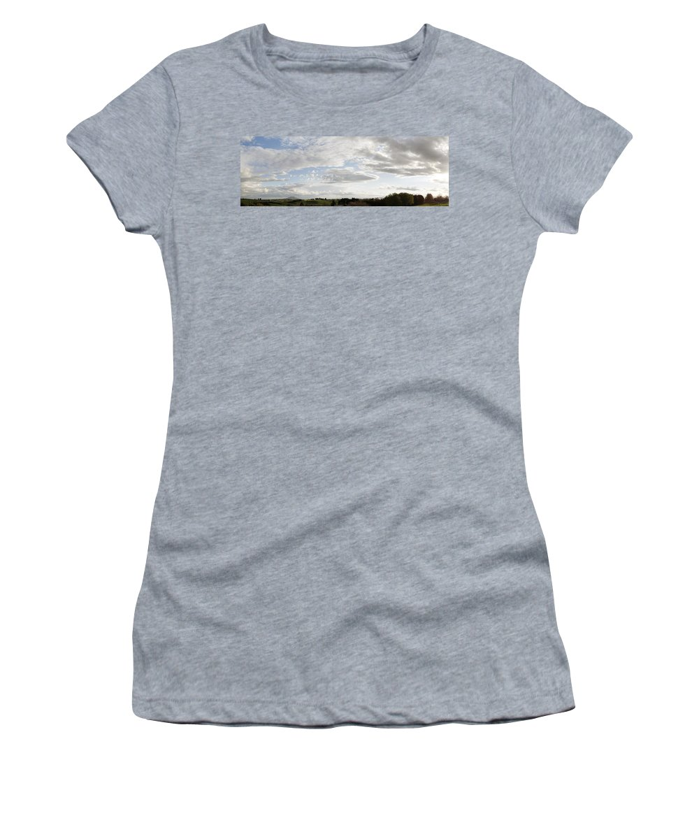 Sky Women's T-Shirt featuring the photograph New Zealand by Les Cunliffe